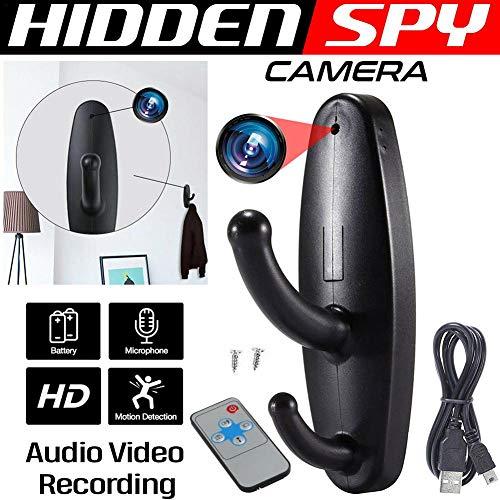 Cámara oculta Gancho de ropa Mini cámara SPY,Bloomma 2020 HD mejorada 960P Cámara de niñera Detección de movimiento Vigilancia Cámara de seguridad Grabadora de video Control remoto para interiores
