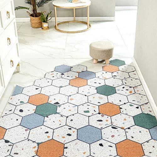 Vloermat met draadlus, slijtvaste entreemat voor buiten, tapijt, deurmat-60 × 90 cm_X