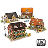 CubicFun 3D Germany Puzzles for Cityscapes Architectural Building Model Kits, 181 Pieces, W3189h