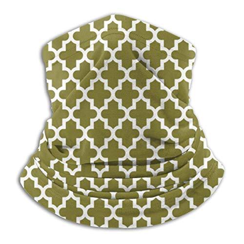 Máscara elástica para la cabeza, multifuncional, color verde oliva, con protección para el cuello, bufanda, resistente al viento y al polvo
