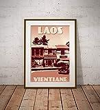 guyfam Vintage Poster Laos - Carterie Du Laos - Fine Art