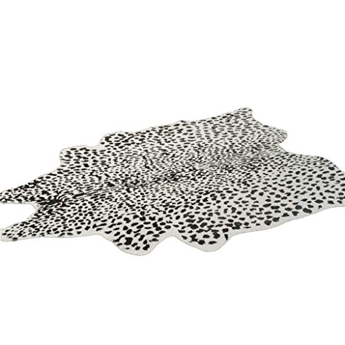 Rug Pads Home Décor/Area Rugs, Runners & Pads Carpet American Cowhide Carpet Living Room Bedroom Coffee Table Hotel Carpet Black and White Spotted Snow Leopard Pattern mat