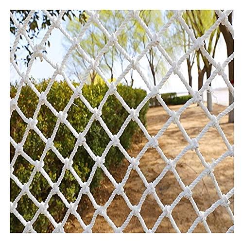 Lanrui Nets de Seguridad Blanca, Redes de la Cuerda de protección de escaleras, Red de Nylon, Red de Escalada, Puertas Infantiles para escaleras, Color: 10 cm, Tamaño: 2x3m Red Gatos