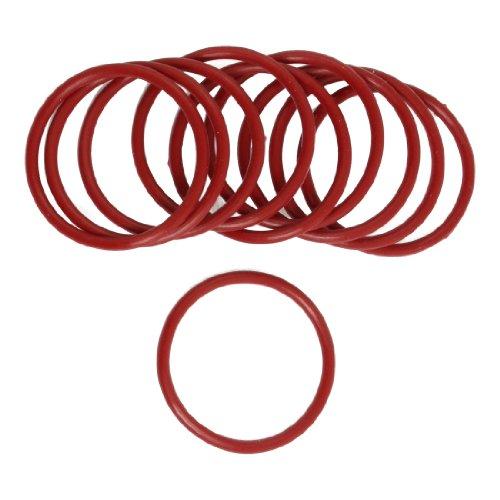 10 stuks flexibel rubber O-ring afdichting wasmachine vervanging rood 36 mm x 2,5 mm