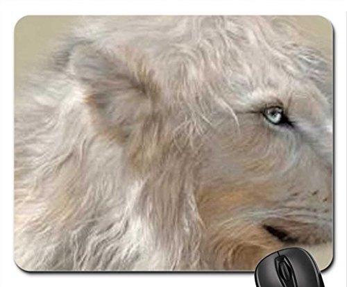 Majestic witte leeuw schilderij muis pad, muismat