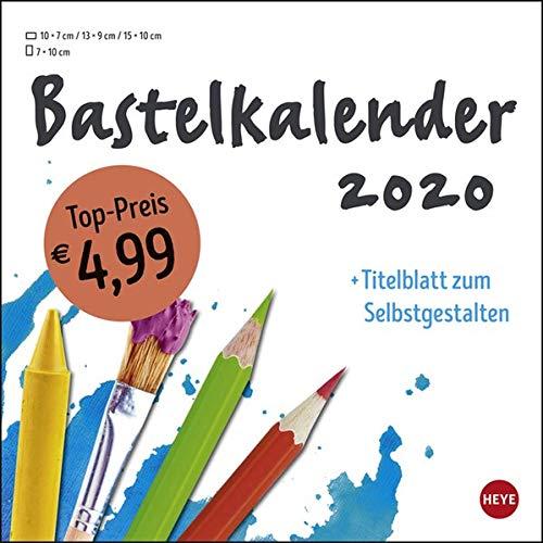 Bastelkalender weiß klein. Bastelkalender 2020. Monatskalendarium. Spiralbindung. Format 17,5 x 17,5 cm