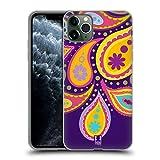 Head Hülle Designs Taro Paisley Muster Soft Gel Huelle kompatibel mit iPhone 11 Pro Max