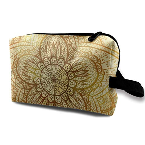 Ethnic Doodle Design an Art Portable Travel Cosmetic Bags Makeup Organizer Bags Grande Capacity Toiletry Organizer Cases Travel Pouch Purse