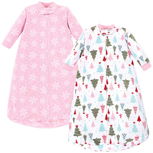 Hudson Baby Unisex Baby LongSleeve Fleece Sleeping Bag Sparkle Trees 09 Months US