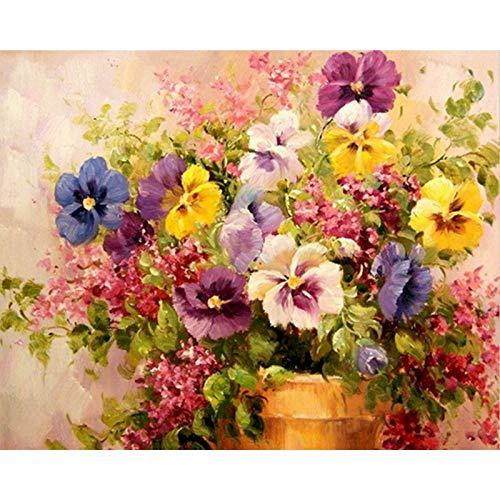 Kits de pintura de flores por nmeros Pintura acrlica por nmeros Imagen Pintura al leo pintada a mano sobre lienzo para arte de pared Imagen A10 50x70cm