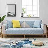 Fsogasilttlv Protector de sofá,Funda de sofá de algodón Azul...