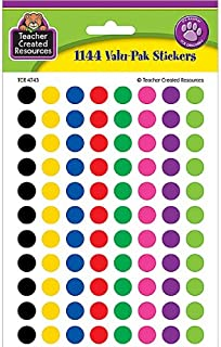 Teacher Created Resources Colorful Circles Mini Stickers Value Pack, Multi Color (4743)