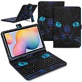 Funda para tablet compatible con Samsung Galaxy Tab A7 2020, funda con teclado QWERTZ con función atril y USB, colores