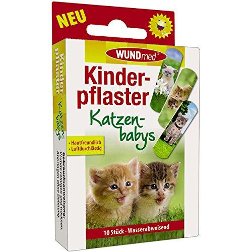 Wundmed 5er Vorteilspack Kinderpflaster Katzenbabys, 5 Pack a 10 Stk. (50 Stk.)