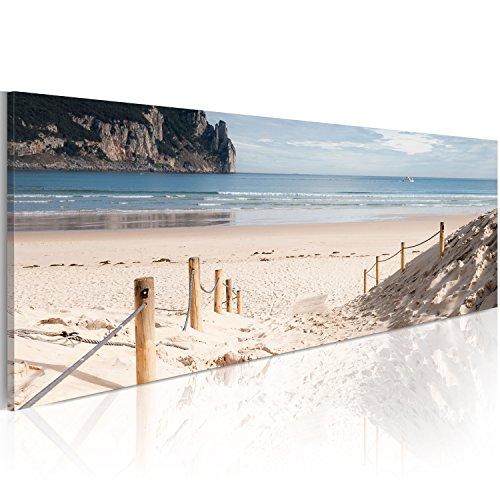 murando Cuadro en Lienzo Mar Playa 120x40 cm 1 Parte Impresión en Material Tejido no Tejido Cuadro de Pared impresión artística fotografía Imagen gráfica decoración Naturaleza Paisaje c-A-0049-b-b