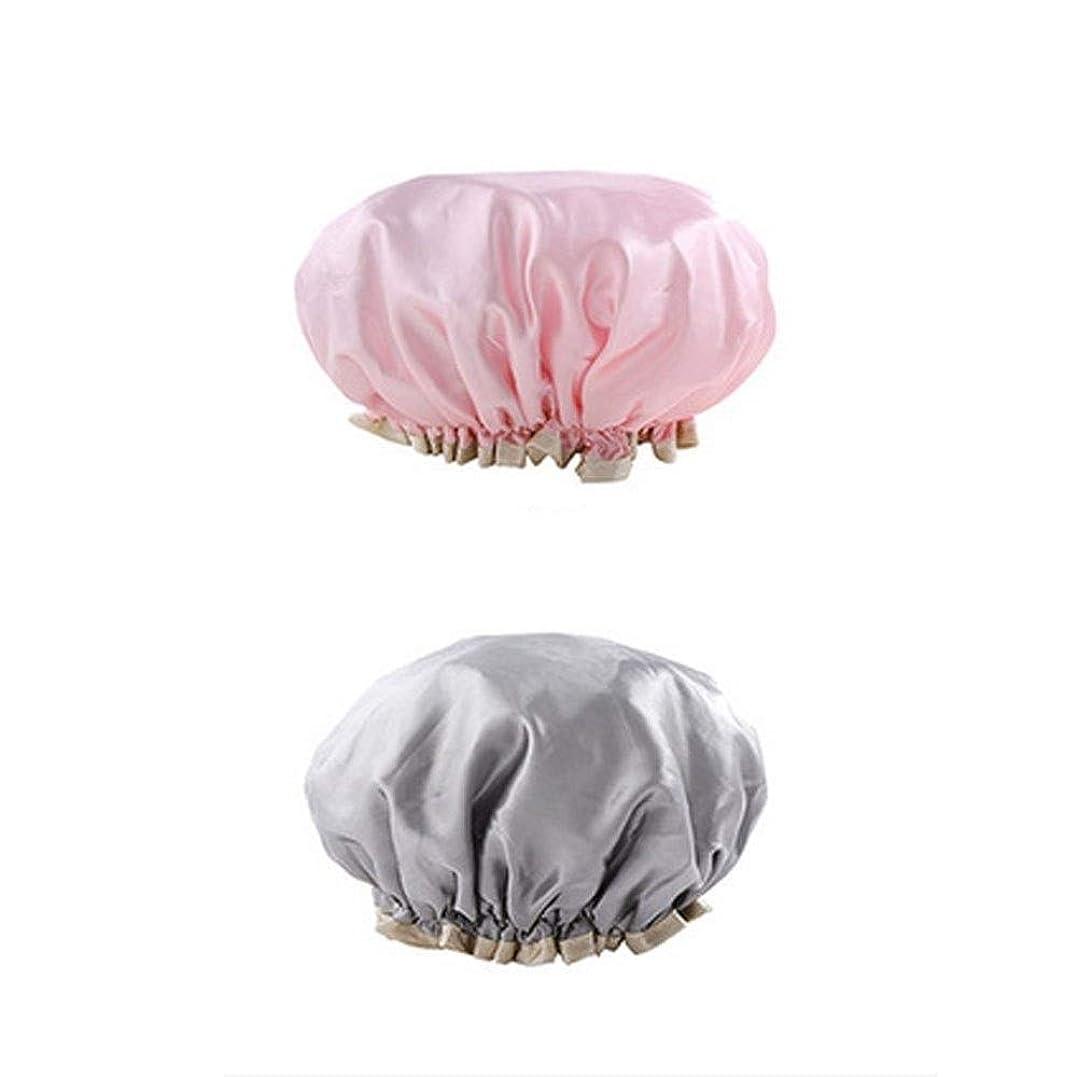 殺人者改善する鋸歯状QXFD 抗喫煙シャワーキャップヘアキャップの子のカバーにセットダブル防水シャワーキャップ大人のモデルタブ髪の毛 (Color : 7)