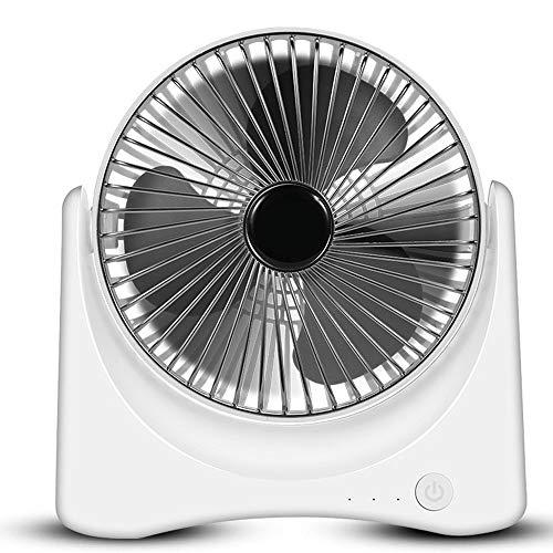LDDCUTE USB-ventilator, multifunctionele convectieventilator, compacte ventilatorafdekking, draagbare mini-ventilator, kleine heroplaadbare stille ventilator, voor gezin, school, kantoren, kinderwagen, camping, zilver