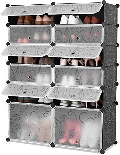 Schuhschale f/ür Schuhregal oder Garderobe Navaris Schuhabtropfschale Schuhablage Set f/ür Schuhe 6-teiliges Set aus Kunststoff stapelbar