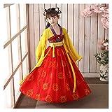 Disfraz de hada hanfu chino para niña de estilo súper hada hanfu hada que fluye de manga larga vestido de verano niñas mujer (color: estilo L, tamaño: 160 cm)