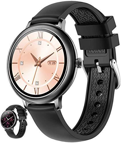 Reloj inteligente para teléfono Android e Ios compatible con reloj de seguimiento de fitness con natación impermeable ritmo cardíaco sueño y control de presión arterial Step Counte C-F
