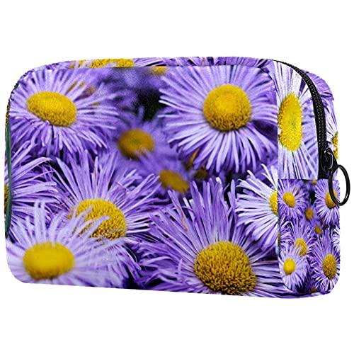 Kosmetiktasche Damen Federmäppchen Stiftetasch Schminktasche Kulturtasche für Handtasche Makeup Tasche Waschtasche Mädchen Lilane Blumen