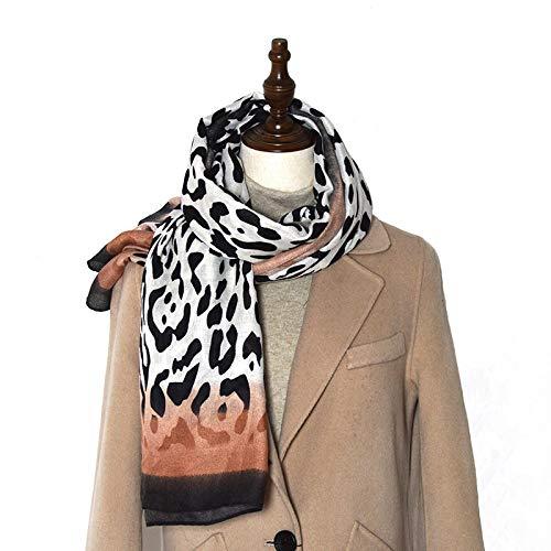 SFBBBO schal Damen 2021 Winter Warm Schal Schal Frauen Baumwolle Soft Chiffon Gitter Frau Leopard Schlangenhaut Schal Weibliche Kopftücher OneSize 1