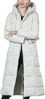 Womens Winter Warm Outdoor Padded Long Hooded Jacket Coat Outerwear