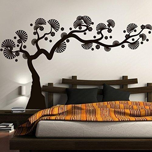 GiftBlitz Black Bonsai Tree Wall Art Vinyl Printed Stickers Wall Decoration Stickers for Living Room, Bedroom