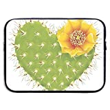 Cactus espinoso en Forma de corazón Funda para portátil Funda con Cremallera portátil Funda para portátil