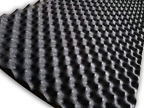 SOOMJ 20mmThick self-adhesive Sound Proof Padding Soundproofing Foam Acoustic Eggcrate Design Car...