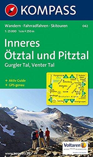Inneres Ötztal, Gurgler Tal, Venter Tal, Pitztal: Wandern, Rad, Skitouren. GPS-genau. 1:25.000