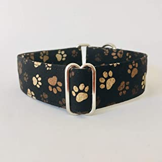 4GUAUS Collar Martingale para Perros - Modelo Huellas Marrón