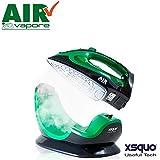 Air Vapor Plus - Plancha inalámbrica para planchar con la máxima libertad Placa de cerámica y base de 2200 W sin cable con termostato, control de vapor y sistema autolimpiante sin caldera 6518