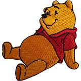 ELLU Disney Winnie the Pooh Patch Embroidered Badge Iron On Sew On Jeans T Shirt Bag