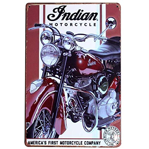 Chytaii.Cartel de Metal Vintage Motocicleta Señal de Retro Poster Placa de Arte Mural Caliente Metal Sign Retro de Oficina en casa Bar Tienda de café Lata Crafts