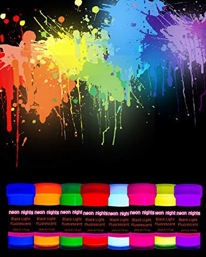 neon nights 8 x Vernice UV Neon Fluorescente Luminescente