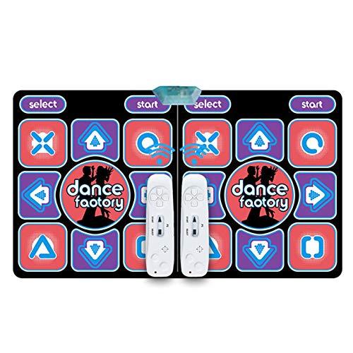 DASNTERED Alfombrilla de baile doble – Alfombrilla de baile USB para juegos de yoga para ordenador HD PVC para TV, manta de carrera 3D para interiores, alfombra de baile doble para casa