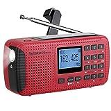 Retekess HR11W NOAA Radio Weather Solar Dynamo AM FM Wind up with Flashlight...