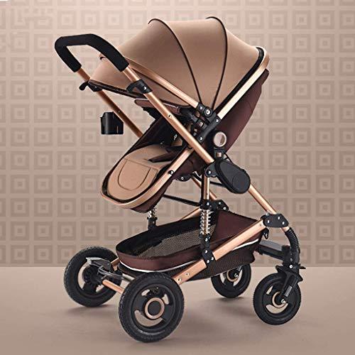 Carrito de bebé, Cochecito de bebé Ligero para Viajes de niños pequeños, Cochecito de conveniencia para bebés, Cochecito de Paraguas Plegable (Color: Marrón)