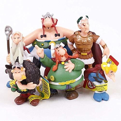 Cheapaff Classique France Dessin animé Les Aventures d'Astérix Figurines en PVC Jouets Enfants Cadeaux pour Enfants 6 pièces/Ensemble