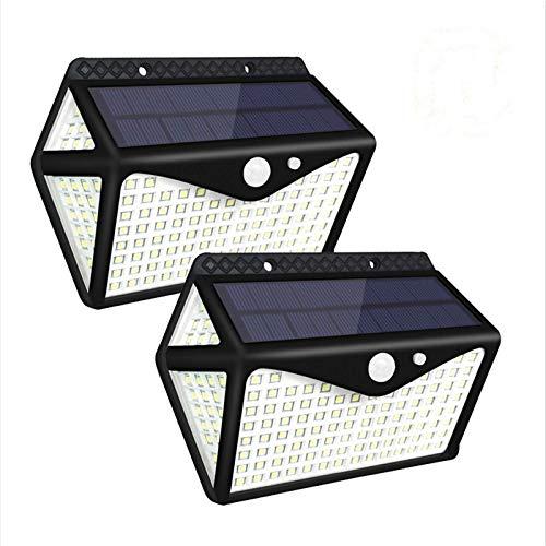 Juego de 2 piezas de luz solar de inducción para pared LED para exteriores, impermeable, para pasillo, jardín
