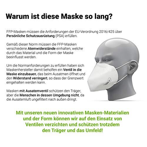 10x FFP3 Atemschutzmaske CE-Zertifiziert Made IN Germany FFP3 Maske Staubschutzmaske Atemmaske Staubmaske 10 Stück verpackt in Aufbewahrungsbox und hygienischen PE-Beutel - 7