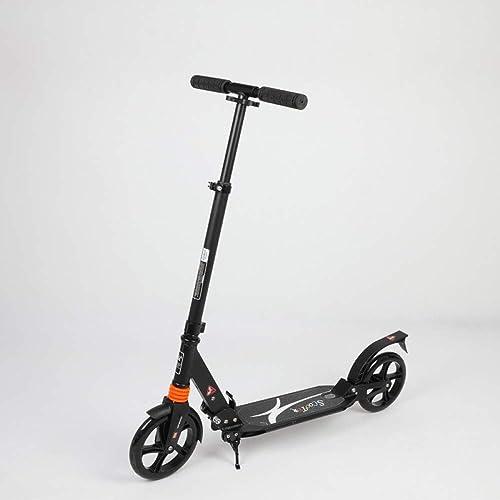 RUIMA Erwachsener Roller ZWeißundes Größes Rad Sto mpfung, der Erwachsene Erwachsene Arbeitsstadtcampusreisescheibenbremse Nicht elektrisch faltet (Farbe   Schwarz