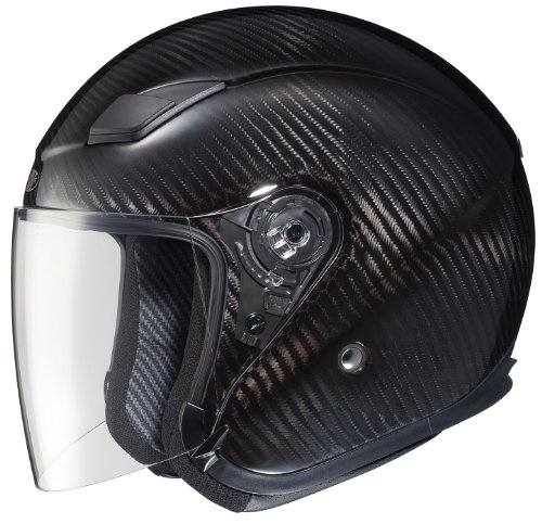 Joe Rocket RKT-Carbon Pro Open Face Carbon Fiber Motorcycle Helmet (Black/Titanium, X-Large)