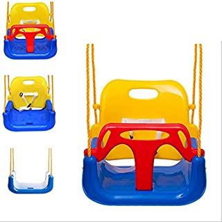 Children Colorful Swing Indoor Outdoor Baby Child Toys Bending Thick Plate Seat Wealthy Plastic Game