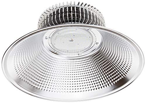 Jandei - Campana LED suspendida luz blanca 6000K Interior IP20 para taller, almacén... [Clase de eficiencia energética A] (100W, 1 UNIDAD)