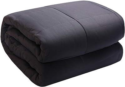 Amazon com: AmazonBasics Soft Micromink Sherpa Blanket - Throw, Grey