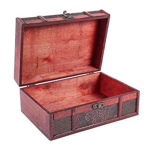 Fransande Caja del tesoro de 22,86 cm, caja pequeña de uva para almacenamiento de joyas, colección de tarjetas de tesoro, caja de regalo, regalos y decoración del hogar