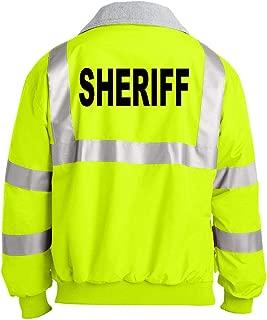 Sheriff - Police Emergency - Unisex Hi-Vis Safety Green Jacket