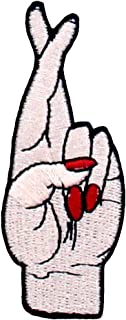 Good Luck Hand Symbol Funny Biker Patch Embroidered Badge Iron On Sew On Emblem